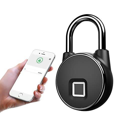ASUD Fingerdruck Vorhängeschloss Wasserdicht USB Aufladen Die Standby-Zeit beträgt 6 Monate Geeignet für Schließfächer, Fahrräder, Werkzeugkästen, Pickups, Werften, LKWs, Lagerhallen, Garagen