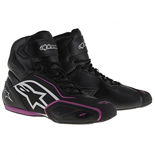 Botas impermeables moto mujer Alpinestars Stella Faster-2 WP negro / fucsia (37)