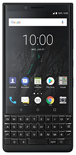 Blackberry Mobile (BlackBerry Key2 Single SIM Smartphone (4,5 Zoll Display, 12 Megapixel Kamera, LTE, 6 GB RAM, 64 GB Speicher, Quick Charge 3.0, Android 8.1 Oreo) Schwarz)