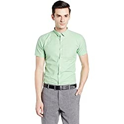 Excalibur Men's Formal Shirt (8907242477176_265207971_39_Green)