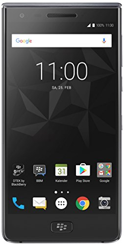 Blackberry Mobile (BlackBerry Motion Smartphone (5,5 Zoll), 12MP Kamera, 4.000 mAh Akku mit Schnellladefunktion, 32GB ROM / 4 GB RAM, Staub- und Spritzwassergeschützt (IP67), SINGLE SIM, schwarz)