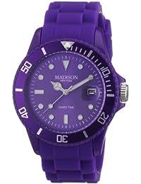 Madison New York - SU4167U - Montre Mixte - Quartz Analogique - Cadran Violet - Bracelet Silicone Violet
