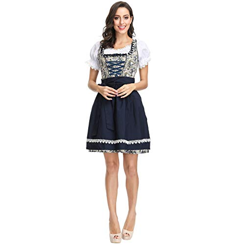 CJJC Übergroße Beer Girl Oktoberfest Kostüm, High School Girl Performance Stage Dress, Rollenspiel Magd Kostüm für Festival Party verwenden - High School Vampir Kostüm