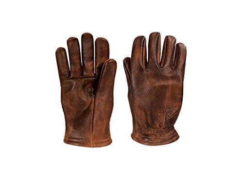 Motorrad Handschuhe John Doe Freewheeler Leder brown used, M (Kevlar-motorrad-leder)