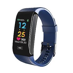 LANSKIRT Fitness Armband mit Pulsmesser, Sportliche Aktivität Schlaf Tracker-Herzfrequenz Fitness-Schrittzähler-Armband Smartwatch Aktivitätstracker Schrittzähler Uhr iOS Android Handy