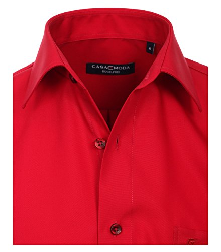 Michaelax-Fashion-Trade CASA Moda - Comfort Fit - Bügelfreies Herren Business Langarm Hemd Verschiedene Farben (006050) Rot (408)