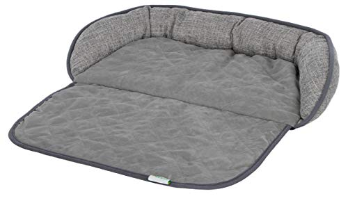 """Kerbl Couchkissen \""""Emalia\"""" für Hunde und Katzen, schützt die Couch vor Haaren und Schmutz, in grau, in Zwei Größen (60 x 40 cm)"""