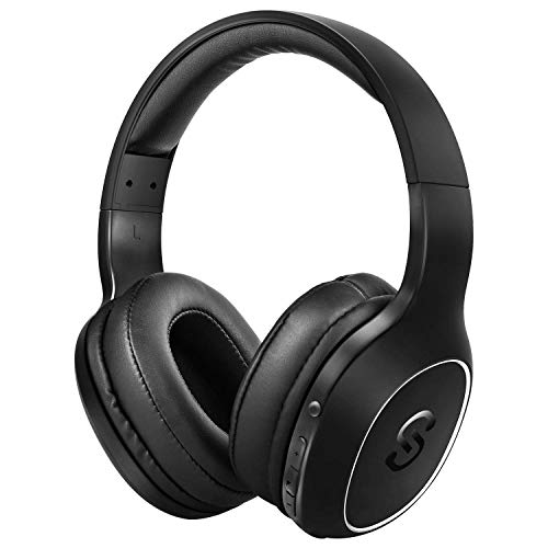 UPGRADE SoundPEATS Bluetooth Kopfhörer Over Ear Kopfhörer 20 Stunden Spieldauer kabellos & 3,5-mm-Audioeingang on Ear Headset Kabelgebundene Kopfhörer Bass Stereo Mikrofon Kompatibel für iPhone/Huawei 3,5-mm-kopfhörer-mikrofon