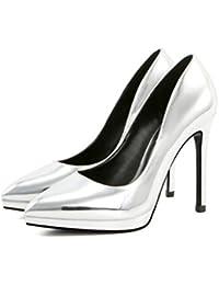 mogeek Moda Zapatos con Tacon Alto Para Mujer Plataforma Elegante Fiesta Stiletto