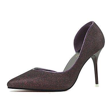 Moda Donna Sandali Sexy donna tacchi tacchi estate pu Office & Carriera Stiletto Heel altri nero / blu / Argento / Oro / Burgundy Altri Black