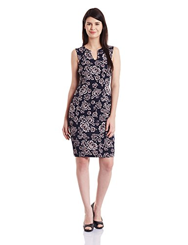 Harpa Women's A-Line Dress (GR3360-NAVY_XL)  available at amazon for Rs.560