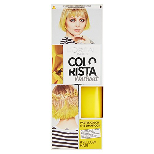 Haarfarbe Loreal Temporäre (L 'Oreal Paris Bunte Färbung Temporal Ton Washout Yellow Hair–116gr)