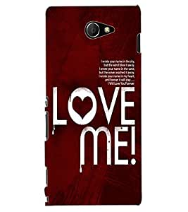 ColourCraft Love Quote Design Back Case Cover for SONY XPERIA M2 DUAL D2302