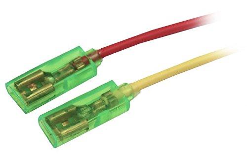 Preisvergleich Produktbild 80x Kabel mit 6, 3mm Flachsteckhülse isoliert Kabelschuhe Kupfer Rot Gelb