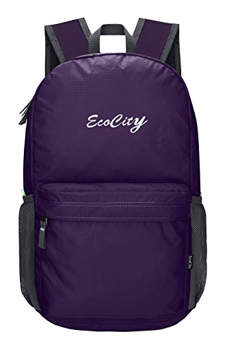 EcoCity Ultra Lightweight Packable Backpack Hiking Daypack + Most Durable Light Backpacks for Men and Women / the Best Foldable Camping Outdoor Travel Biking School Air Travelling Carry on Backpacking Viola-1