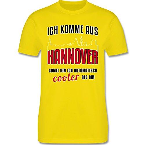 Städte - Ich komme aus Hannover - Herren Premium T-Shirt Lemon Gelb