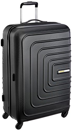 American Tourister Sunset Square ABS 77 cms Black Hard Sided Suitcase (AMT SUNSET SQUARE SP77 BLACK)