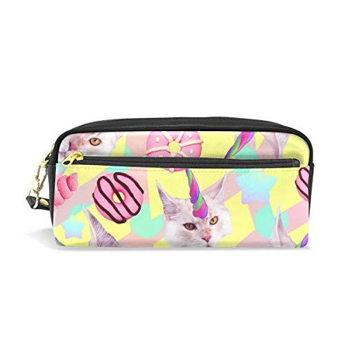 Ahomy Einhorn Katze Donut Federmäppchen für Mädchen und Jungen, Stifttasche Schreibwaren Make-up Tasche Geldbörse Große Kapazität Wasserdicht für Frauen