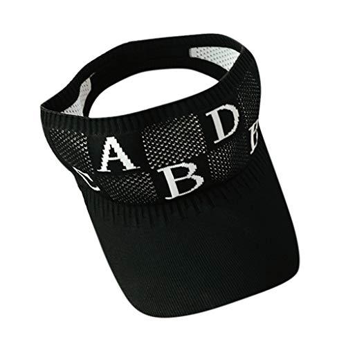 CANDLLY Hut Damen, Kopfbedeckung Zubehör Kopfschmuck Frauen Damen Hut Outdoor einstellbare Kappe Sommer Sonnencreme Sonnenblende Hut Mütze(Schwarz,One ()