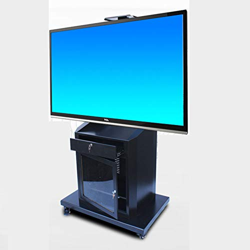XUE Rolling TV Stand Mobile TV Cart, Für 40-75 Zoll LED LCD Plasma Flat Panels mit Schublade mit Kabinenschraucher 360 º of Swivel Mit Wheels Mobile Wire Management Bedroom Klassenraum Meeting Room Flat-panel-lcd-plasma-tv