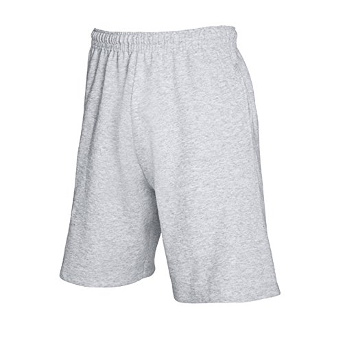 Fruit Of The Loom Herren Jogging-Shorts / Shorts, leicht L,Hellgrau