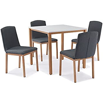 Table Deco Mobilier carrée4 MUKY chaises scandinave 0w8OkNXnP