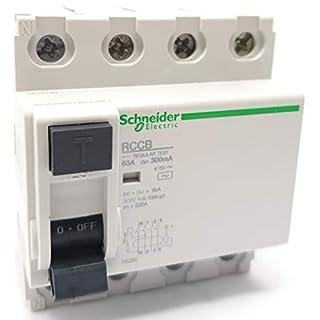 Schneider Electric 4P - 63A - 300mA AC Reststromschutzschalter (RCCB) 16260BA