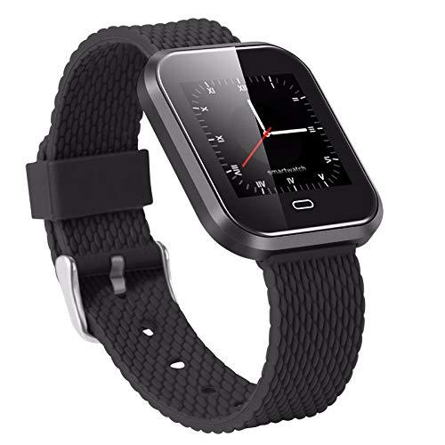 LRWEY Fitness Armband mit Pulsmesser, IP67 Wasserdichte Herzfrequenzaktivität Schrittzähler Kalorienbeschichtung Smart Armband, für iOS Android Handy