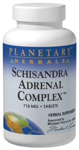 Planetary Herbals, Schisandra Adrenal Complex, 710 mg, 120 Tablets Test