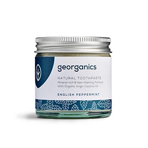 georganics dentifricio naturale rimineralizzante all'olio di cocco biologico - menta piperita 60ml