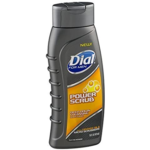 Dial For Men Deep Down Cleansing Body Wash, Power Scrub