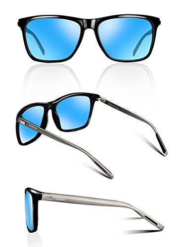 63c53eea00200 SUNMEET Gafas de sol Hombre Polarizadas Clásico Retro Gafas de sol para  Hombre UV400 Protection S1001 ...