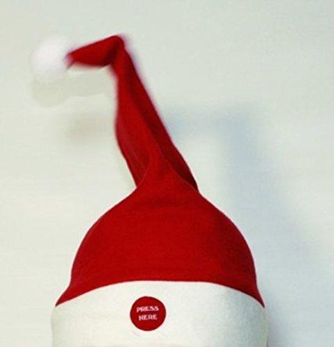 HAAC Singende und tanzende Weihnachtsmütze Nikolausmütze Wackelnde Mütze Nikolaus...