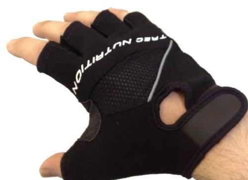 Mammoth XT Fingerlose Gel Gepolsterte / Stoßdämpf Technologie Handschuhe - Gewichtheben / Radfahren / Rudern / Training Fäustlinge - M Schwarz