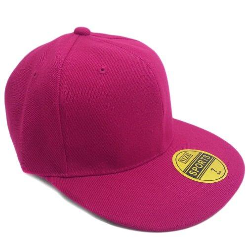 Stylische Urban Cap Kappe Baseballcap Rapper Hip Hop - in verschiedenen Farben und Größen (7 1/4 (58cm), (Hat Rapper)