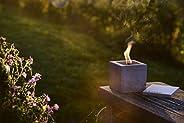 """Antorcha de hormigón con """"mecha permanente"""", Tamaño 10x10x10, Antorcha de jardín rellenable, Tiempo de combust"""