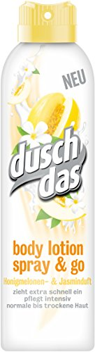 Duschdas Body Lotion Spray & Go Honigmelonen- & Jasminduft, 6er Pack (6 x 190 ml)