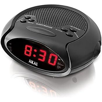 Akai A61015 Led Radio Alarm Clock Sleep To Music Function
