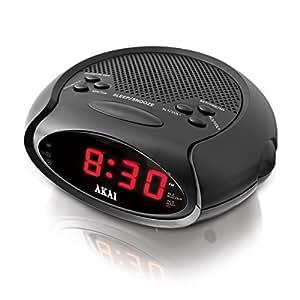 akai a61015 led radio alarm clock sleep to music function 20 preset station. Black Bedroom Furniture Sets. Home Design Ideas