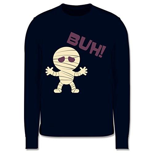 Shirtracer Anlässe Kinder - Mumie Buh süß - 5-6 Jahre (116) - Navy Blau - JH030K - Kinder Pullover