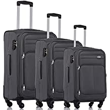 BEIBYE Farbvarianten Stoffkoffer Gepäck Koffer 4 Rollen 8005 Reisekoffer Trolley Gepäckset SET