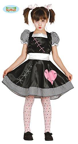 Mädchen Kleine Kostüm Tote - Guirca Halloween Kostüm Tote Puppe für Mädchen Puppenkostüm Kinderkostüm Mädchenkostüm Halloweenkostüm Gr. 110-146, Größe:128/134