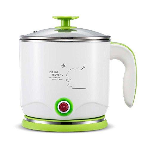 LoTor tragbar 1.2L Mini elektrische Kochtopf Wasserkocher Kocher für Suppe Brei und Gedämpfte Speisen grün