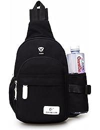 Mochila del hombro, Gracosy Bolso de hombro Bolso del pecho del hombre Paquete de bolsas mensajero Nylon impermeable Crossbody Messenger Bag Mochila Para los deportes