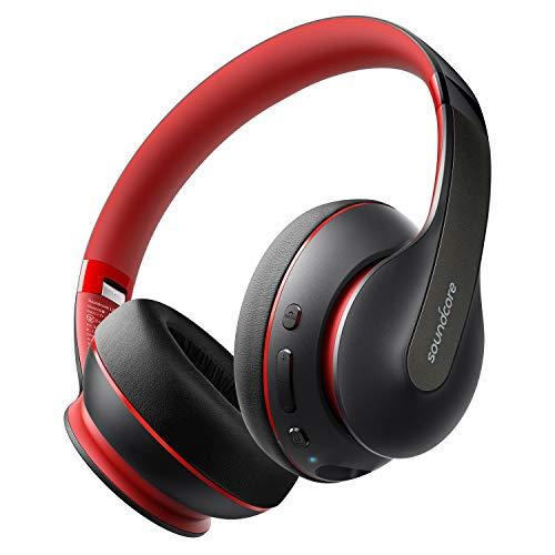 Soundcore cuffie bluetooth wireless Life Q10, cuffie sovrauricolari e ripiegabili, audio Hi-Res certificato, 60 ore di riproduzione e ricarica rapida tramite USB-C, bassi profondi, ingresso AUX