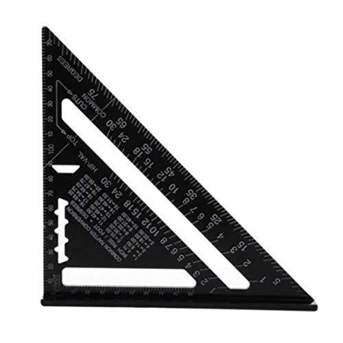WEIHAN Dreieckige Platte 90 Grad 45 Grad quadratisches Lineal