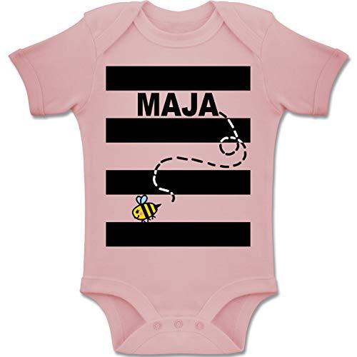 Shirtracer Karneval und Fasching Baby - Bienen Kostüm Maja - 3-6 Monate - Babyrosa - BZ10 - Baby Body Kurzarm Jungen Mädchen (Lustiger Film Paare Kostüm Ideen)