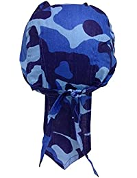 Bandana Cap Camouflage Blau für Jungen
