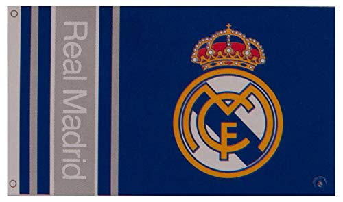 Real Madrid Football Club Official Striped Large Flag Big Crest Game Fan Banner -