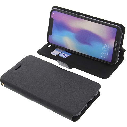 foto-kontor Tasche für Leagoo S9 Book Style schwarz Schutz Hülle Buch